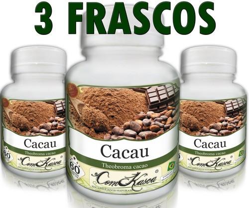 3 Frascos De Cacau - Reduzir O Risco De Diabetes