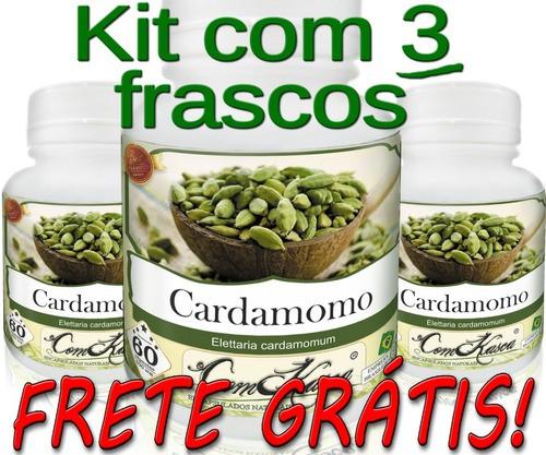3 Frascos De Cardamomo Comkasca ( 100 % Natural )