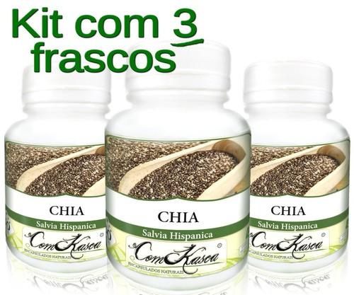 3 Frascos De Chia