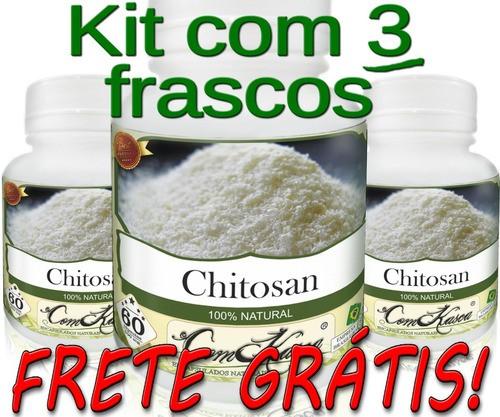 3 Frascos De Chitosana Comkasca ( Emagrecedor )