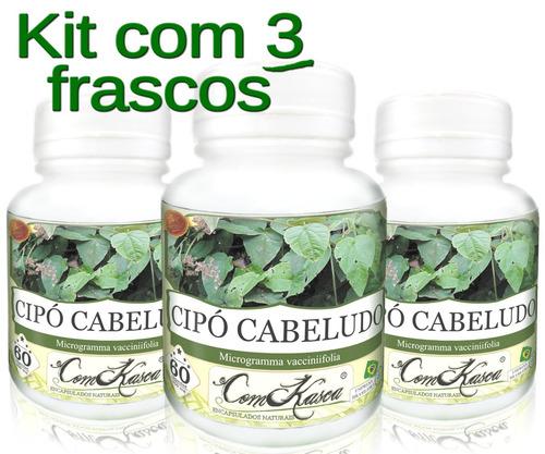 3 Frascos De Cipó Cabeludo