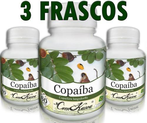 3 Frascos De Copaíba - Antibiótico Natural Poderoso