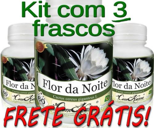 3 Frascos De Flor Da Noite Comkasca - 100% Natural