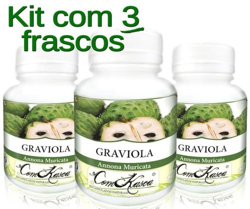 3 Frascos De Graviola (pura)
