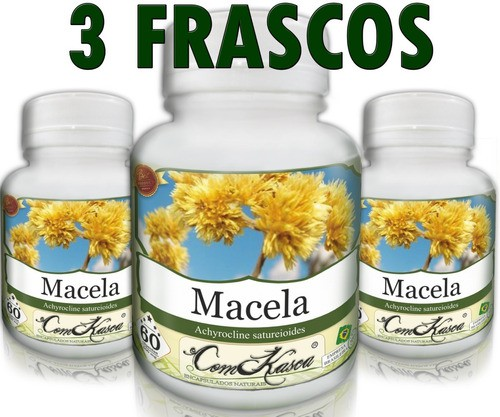 3 Frascos De Macela - Combate Dor De Estômago