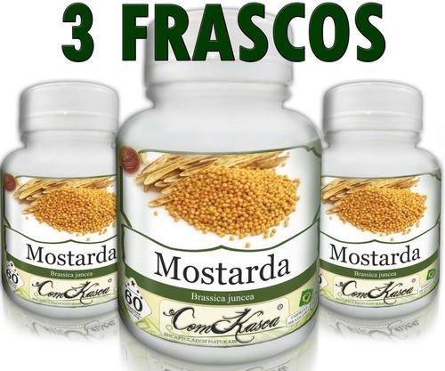 3 Frascos De Mostarda