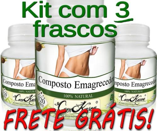 3 Frascos De Oliveira E 3 Frascos De Emagrecedor