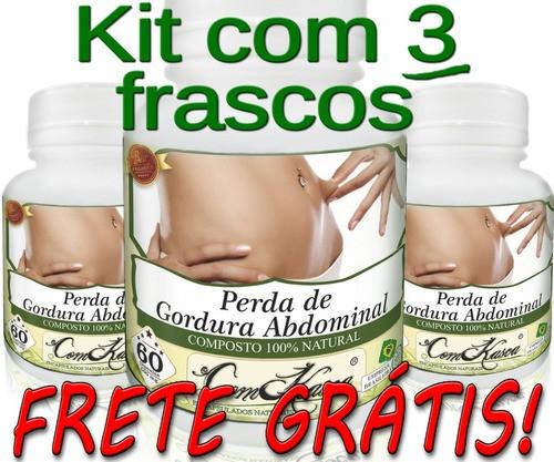 3 Frascos De Perda De Gordura ( Abdominal )