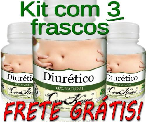 3 Frascos Diurético Comkasca (diminui Inchaço)