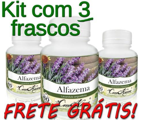 3 Potes De Alfazema (lavandula Angustifolia) Em Cápsulas