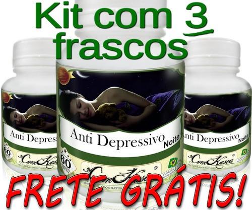 3 Potes De Anti Depressivo Para A Noite Em Cápsulas