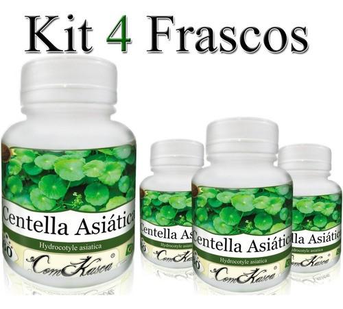 4 Frascos = 240 Cápsulas De Centella Asiática