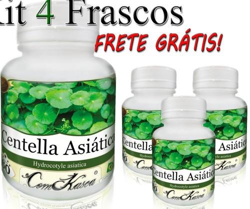 4 Frascos De Centella Asiática (gotu Kola)