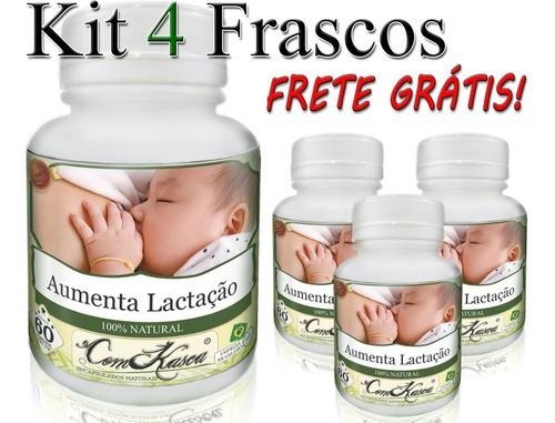 4 Potes Aumentar O Leite Materno Natural Cápsulas