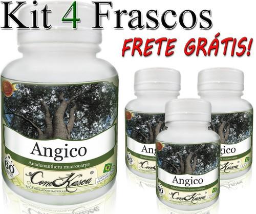 4 Potes De Angico (anadenanthera) Em Cápsulas