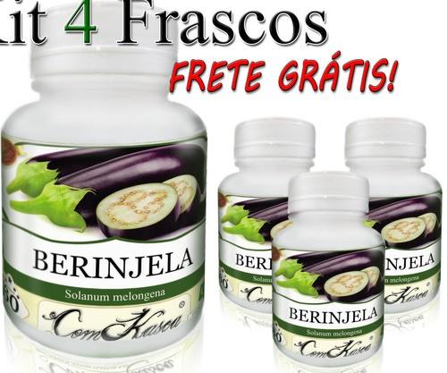 4 Potes De Berinjela (solanum Melongena) Cápsulas