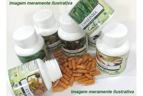 4 Potes De Chlorella Vulgaris, Clorela Em Cápsulas