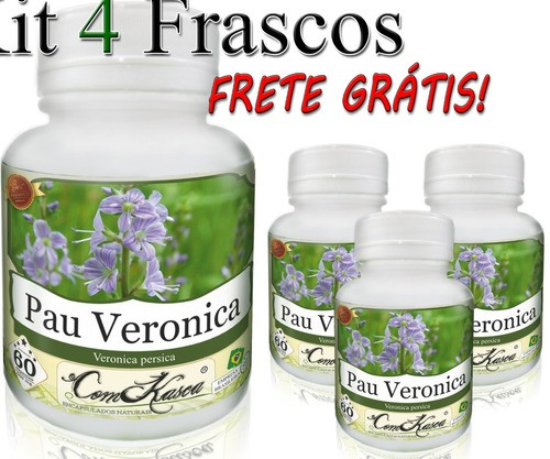 Pau Veronica - 4 potes com 60 cápsulas