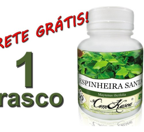 60 Cápsulas De Espinheira (melhora O Trânsito Intestinal)