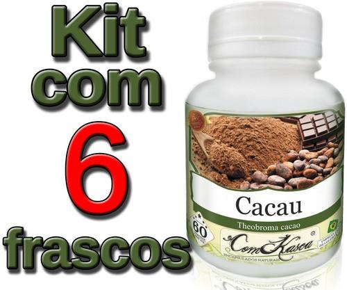 6 Frascos De Cacau Comkasca (100%natural)