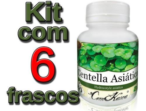 6 Frascos De Centella Asiática (gotu Kola) - 360 Cápsulas