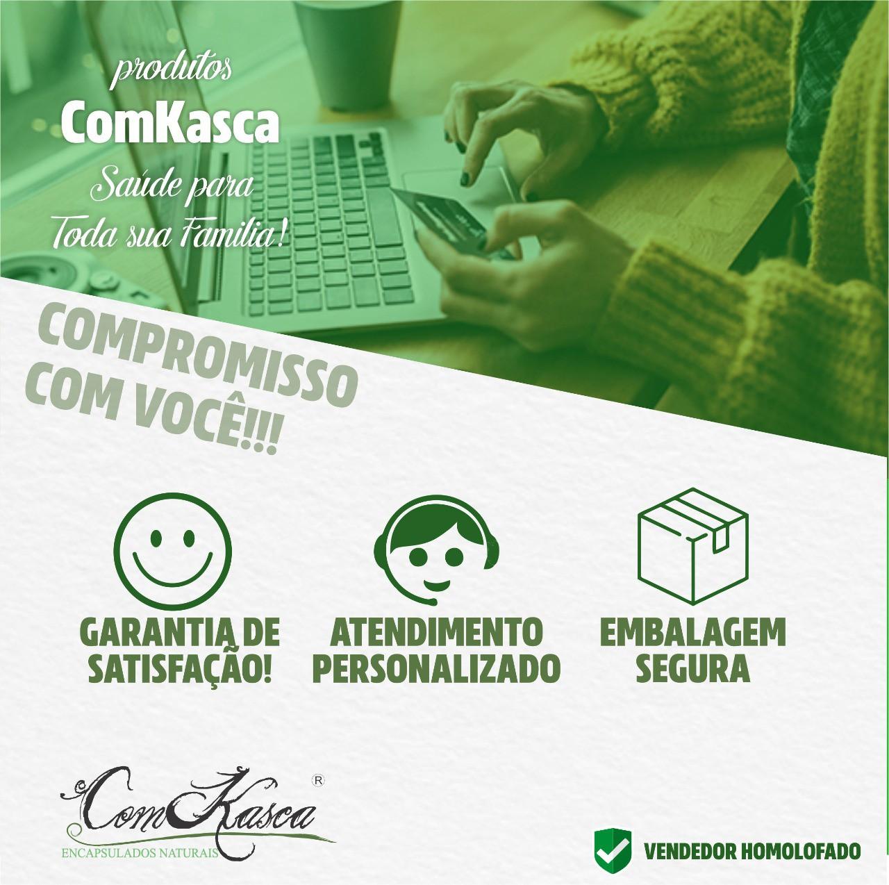 6 Frascos De (green-shape) Emagrecedor Comkasca