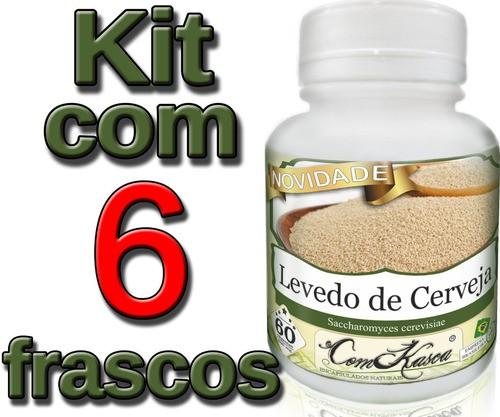6 Frascos De Levedo De Cerveja (saccharomyces Cerevisiae)