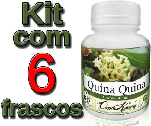 6 Potes De Cascas De Quinino Em Cápsulas