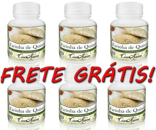 6 Potes De Farinha De Quinoa Chenopodium Quinoa Em Cápsulas