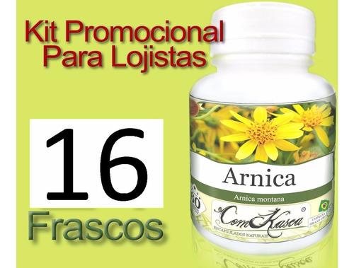 Arnica - 16 potes com 60 cápsulas