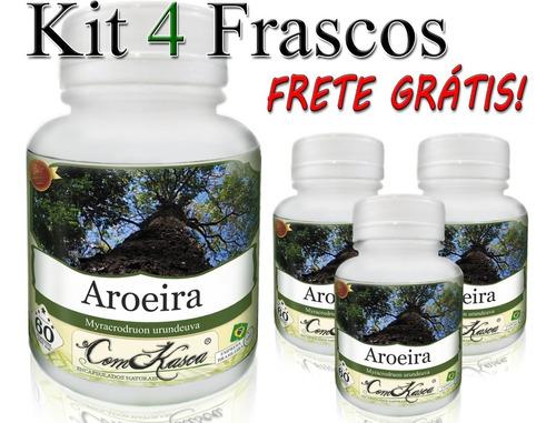 Aroeira - 4 potes com 60 cápsulas