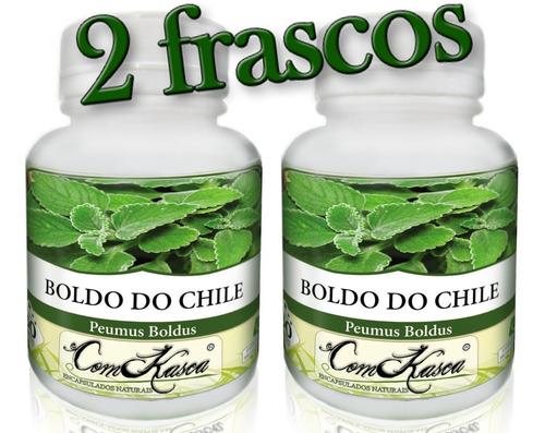 Boldo do Chile - 2 potes de 60 cápsulas