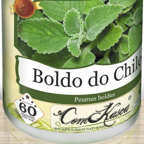 Boldo do Chile - 4 potes de 60 cápsulas