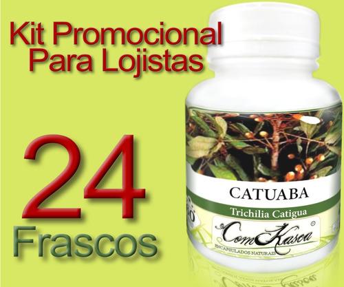 Catuaba - 24 potes com 60 cápsulas