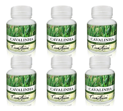 Cavalinha - 6 potes com 60 cápsulas
