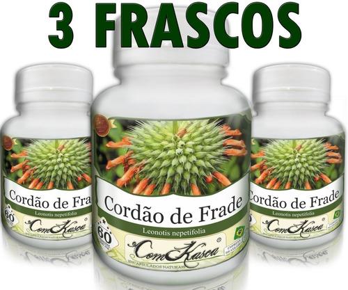 Cordão de Frade - 3 potes de 60 cápsulas