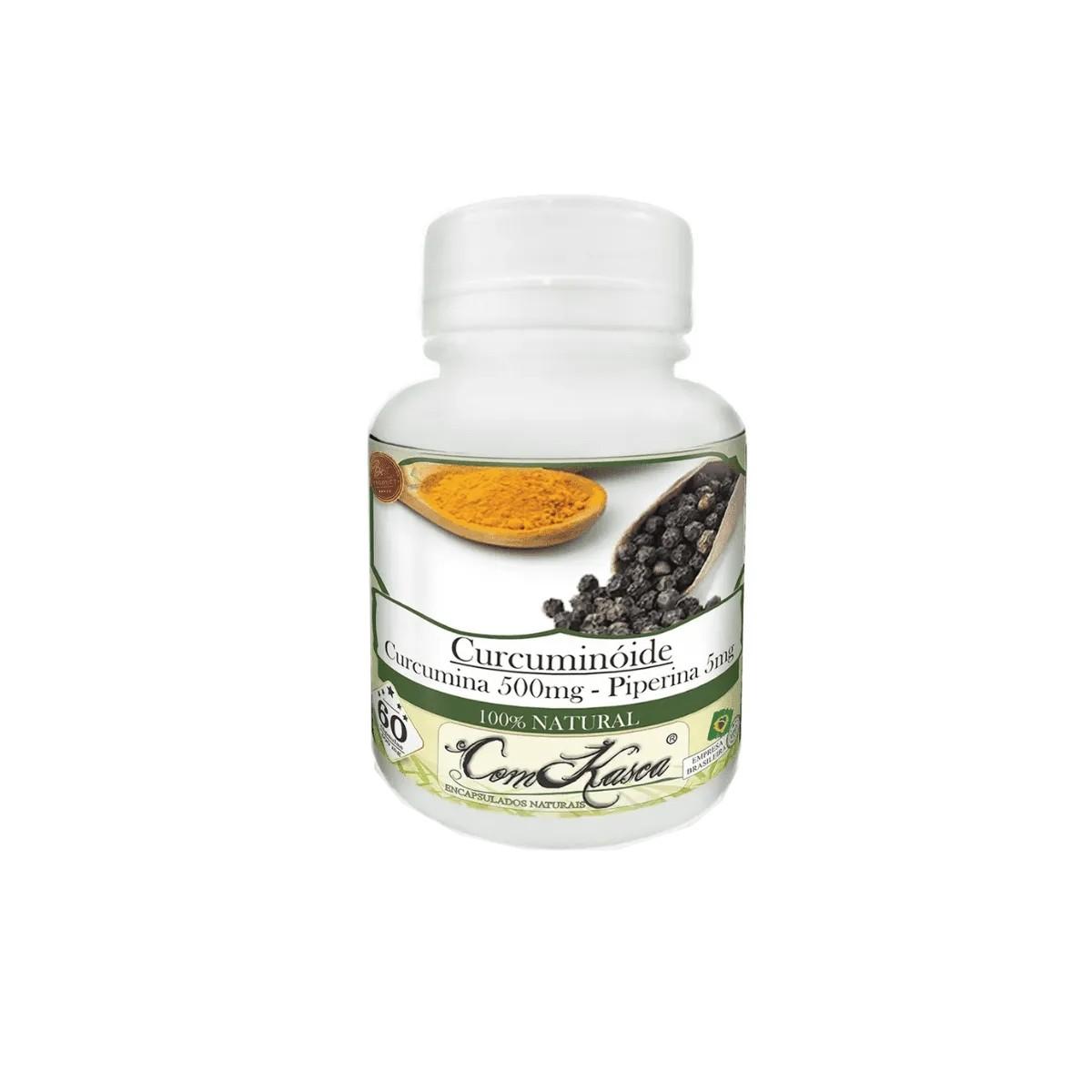 Cúrcuma com Pimenta Preta (Curcuminóide) - 1 pote com 60 cápsulas
