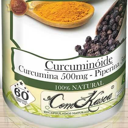 Cúrcuma com Pimenta Preta (Curcuminóide) ComKasca 60 caps