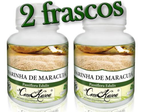 Farinha De Maracujá - 2 potes de 60 cápsulas