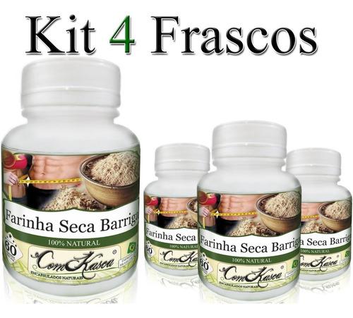 Farinha Seca Barriga - 4 potes com 60 cápsulas