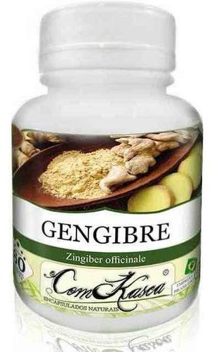 Gengibre - 6 potes com 60 cápsulas