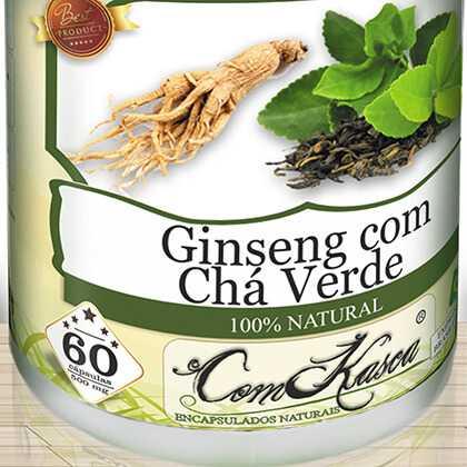 Ginseng com Chá Verde 60 caps