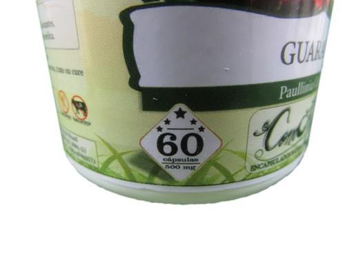 Guaraná 60 Cápsulas 500 Mg