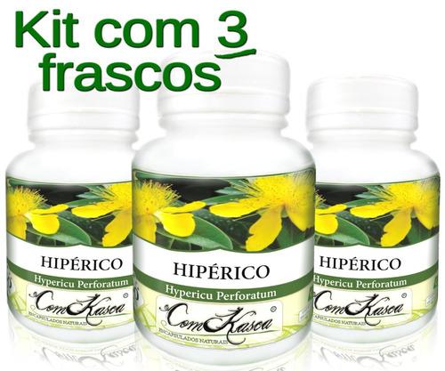 Hipérico - 3 potes com 60 cápsulas