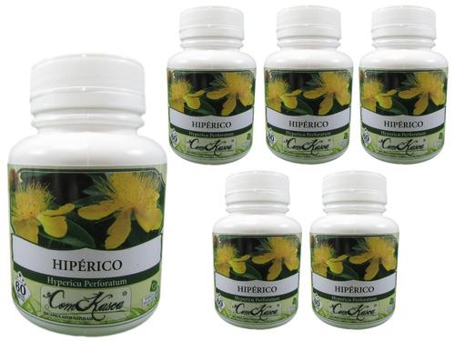 Hipérico - 6 potes com 60 cápsulas