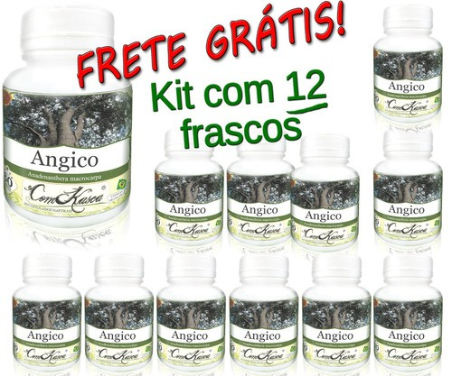 Kit 12 Frascos Angico (100% Puro) Premium