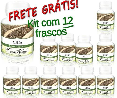 Kit 12 Frascos De Chia 60 Capsulas