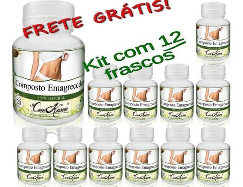 Kit 12 Frascos De Emagrecedor