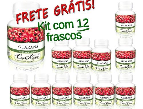 Kit 12 Frascos De Guaraná Com 60 Capsulas