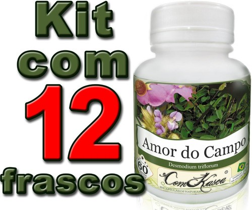 Kit 12 Potes De Amor Do Campo 60 Caps